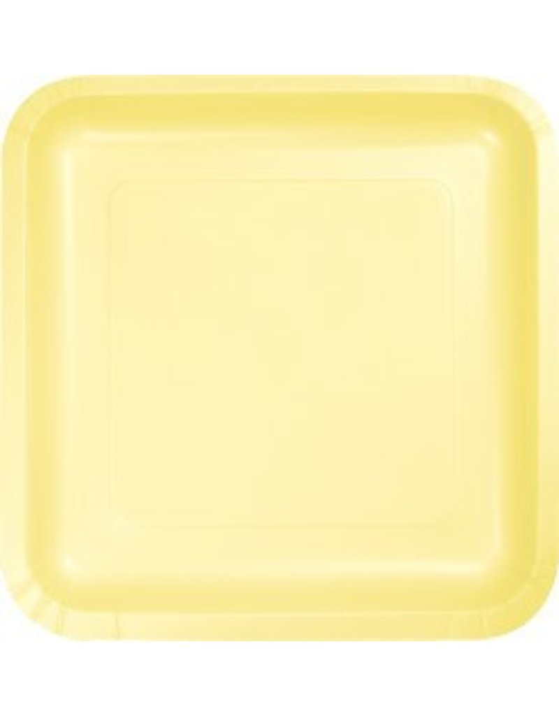 "7"" Square Plates Mimosa Yellow"