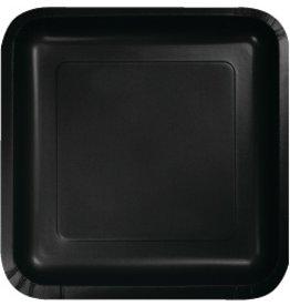 """7"""" Square Plates Black Velvet"""