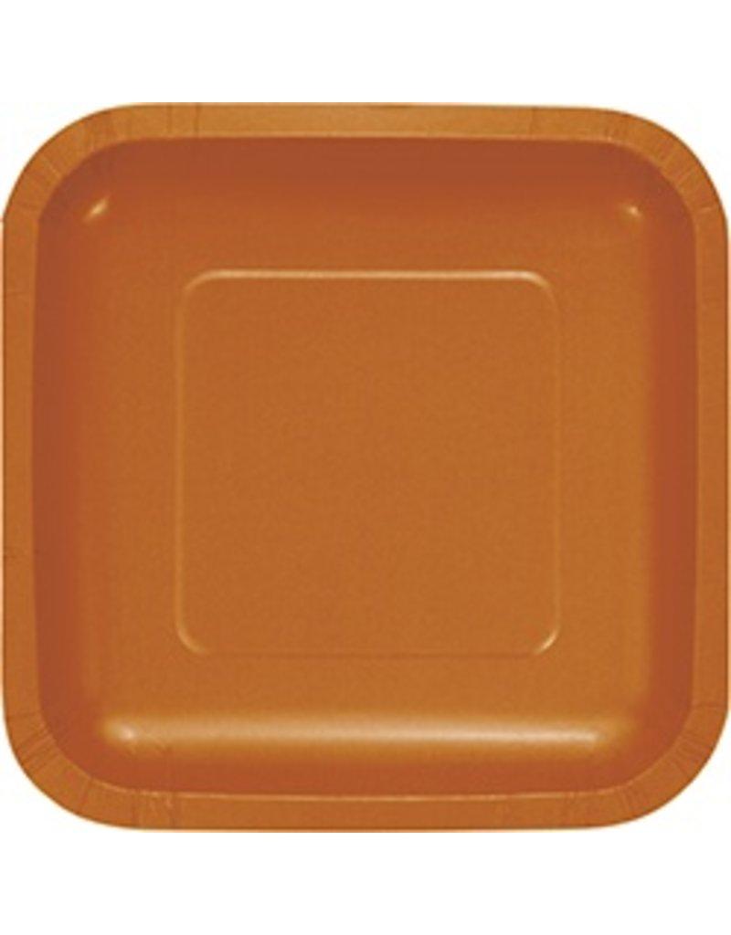 """7"""" Square Plates Pumpkin Spice"""