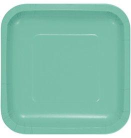 "7"" Square Plates Fresh Mint"