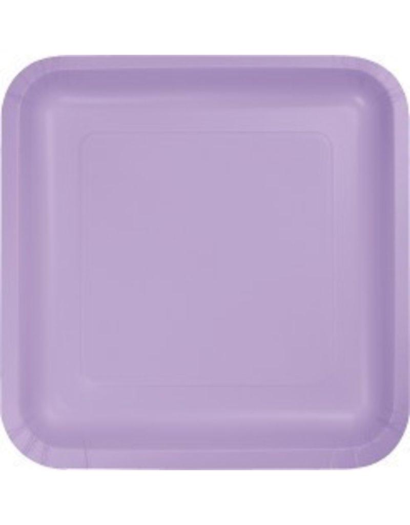 """7"""" Square Plates Luscious Lavender"""