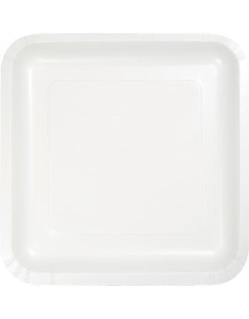 "7"" Square Plates White"
