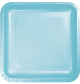 "7"" Square Plates Pastel Blue"