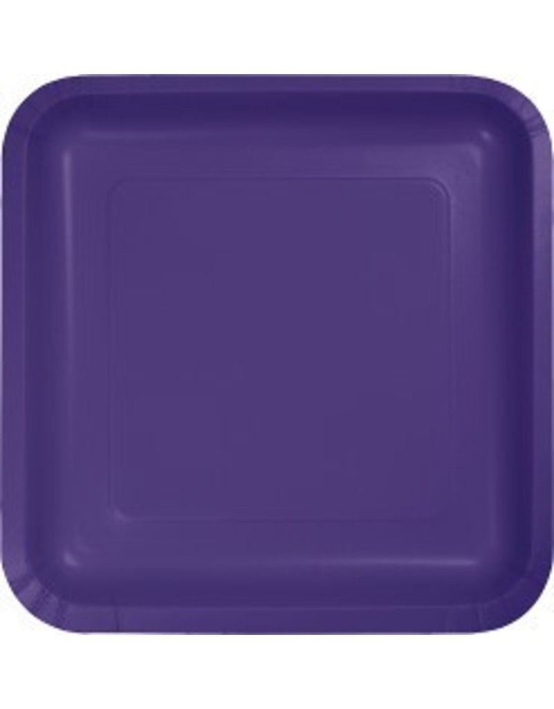 "7"" Square Plates Purple"
