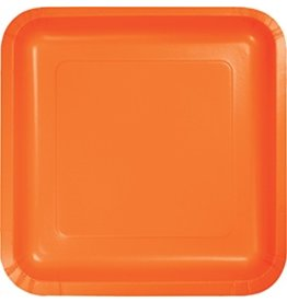 "7"" Square Plates Sunkissed Orange"