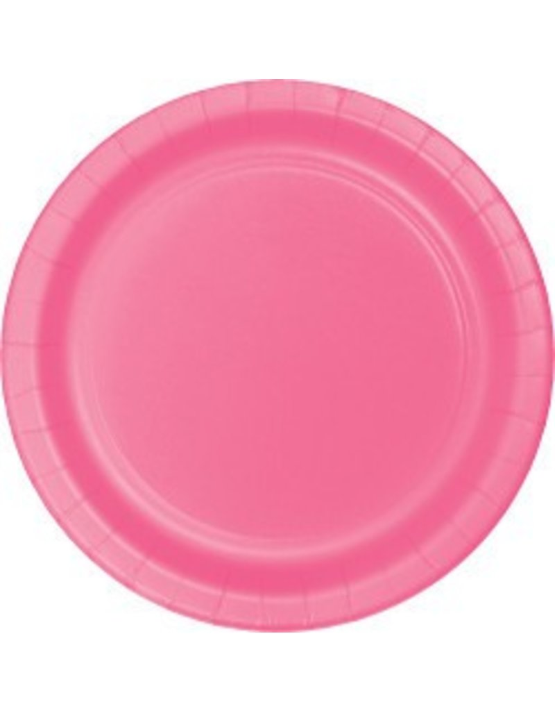 """9"""" Round Plates Candy Pink"""