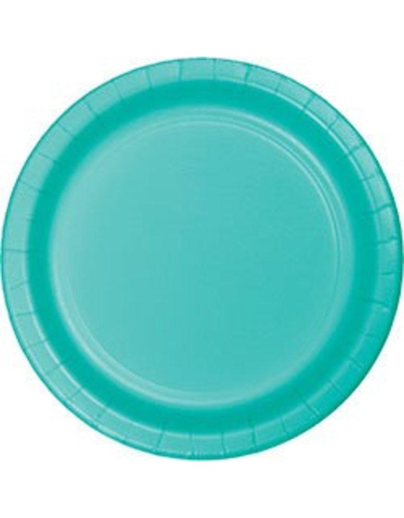 "9"" Round Plates Teal Lagoon"