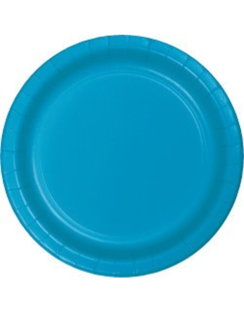 "9"" Round Plates Turquoise"