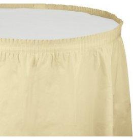 Table Skirt Plastic Ivory