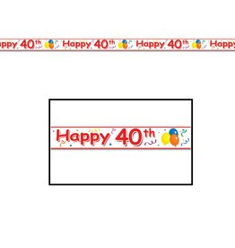 Happy 40TH Party Tape