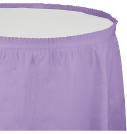 Table Skirt Plastic Luscious Lavender