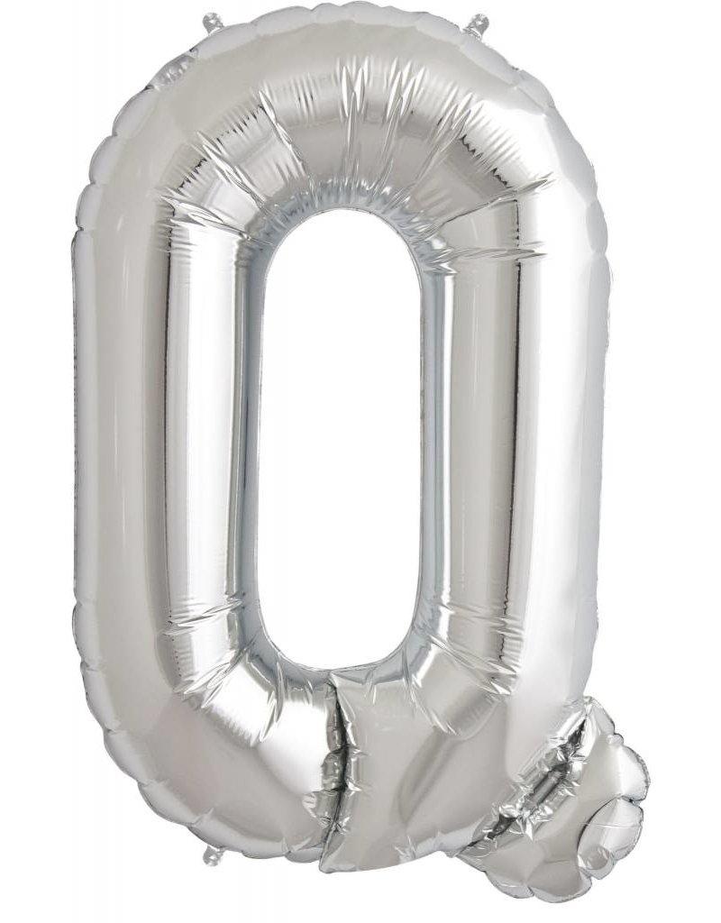 """34"""" Silver Foil Q Balloon"""