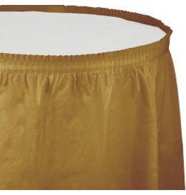 Table Skirt Plastic Glittering Gold