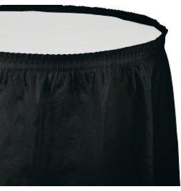 Table Skirt Plastic Black Velvet