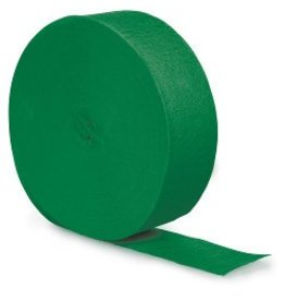 Crepe Paper Streamers 500' Emerald Green