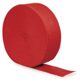 Crepe Paper Streamers 500' Classic Red