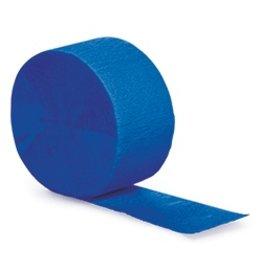 Crepe Paper Streamers 81' Cobalt