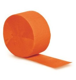 Crepe Paper Streamers 81' Orange