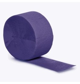Crepe Paper Streamers 81' Purple