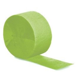 Crepe Paper Streamers 81' Fresh Lime