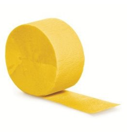 Crepe Paper Streamers 81' School Bus Yellow