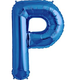 "34"" Blue Foil P Balloon"