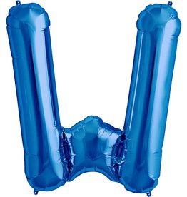"34"" Blue Foil W Balloon"