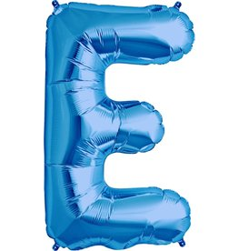 "34"" Blue Foil E Balloon"