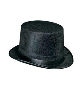 Black Vel- Felt Top Hat