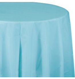 Round Table Cover Pastel Blue