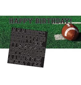 Giant Banner Football with letters