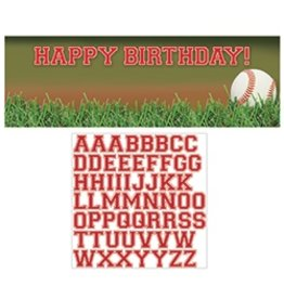 Giant Party Banner Birthday Baseball