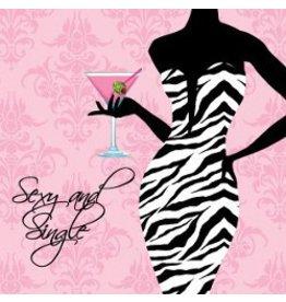Beverage Napkins Sexy & Single