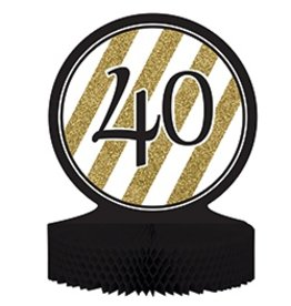 Centerpiece Black & Gold 40