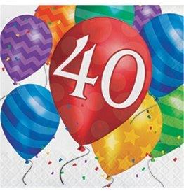 Luncheon Napkins 40 Balloon Blast