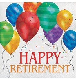 Luncheon Napkins Balloon Blast Retirement