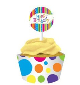 Bright & Bold Cupcake Wrappers