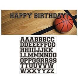 Giant Party Banner Birthday Basketball