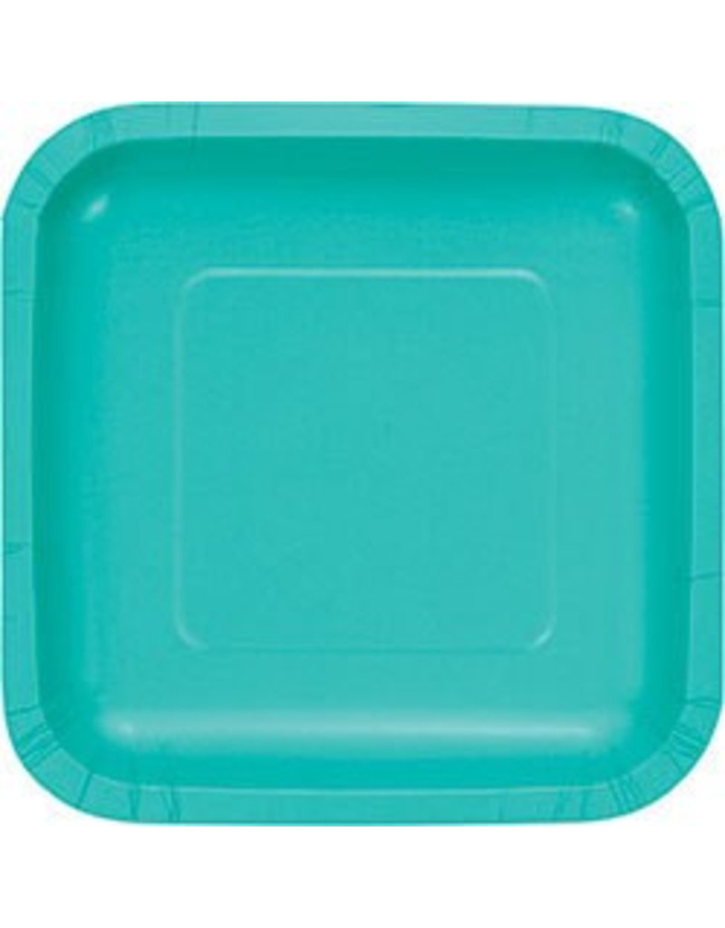 "7"" Square Plates Teal Lagoon"