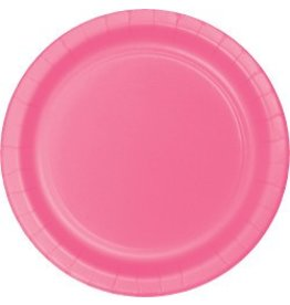 """7"""" Round Plates  Candy Pink"""