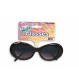 Mod Glasses Black