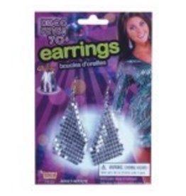 Disco Earrings Silver