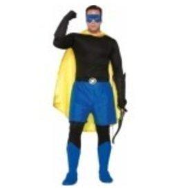 Super Hero Boxer Shorts Adult Size Blue
