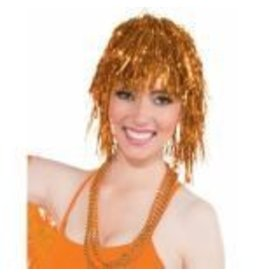 Tinsel Wig Orange