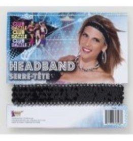 Sequin Headband Black