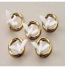 Gold Rings with Dove 20 piece package