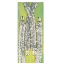 Silver Sequin Suspenders