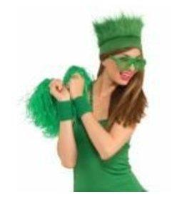 Fur Headband Green