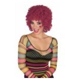 Maroon Afro Wig