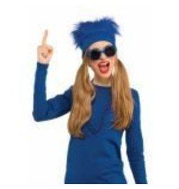 Fur Headband Blue